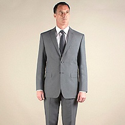 Thomas Nash - Grey plain weave regular fit 2 button jacket