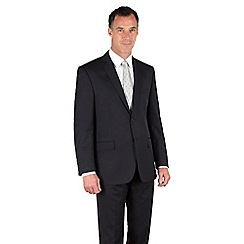 Racing Green - Navy twill regular fit 2 button suit
