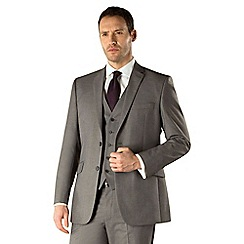 Occasions - Grey plain weave regular fit 2 button 3 piece suit