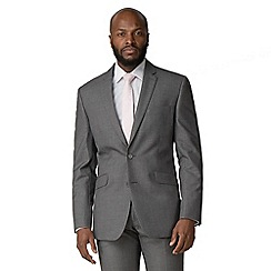 Occasions - Grey plain weave tailored fit 2 button suit