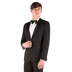 Occasions - Black dresswear slim fit 1 button suit jacket
