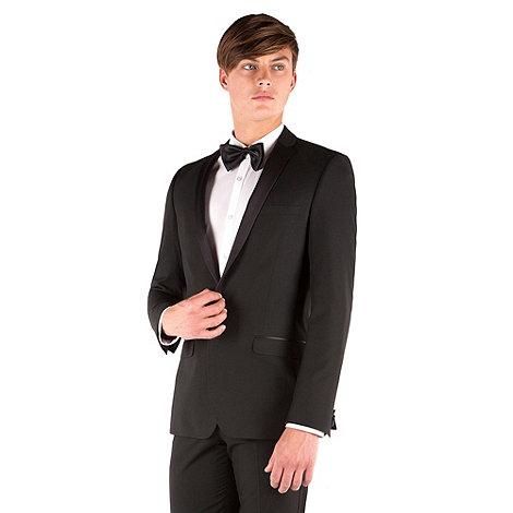 Occasions - Black dresswear slim fit 1 button suit jacket