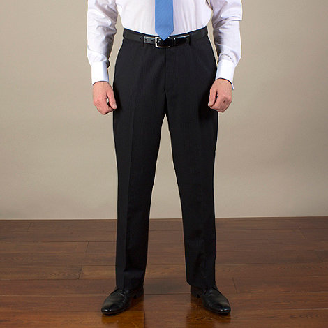 Karl Jackson - Navy stripe regular fit trouser