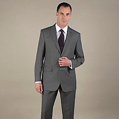 Karl Jackson - Grey semi-plain regular fit 2 button suit