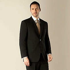 Karl Jackson - Black bengaline 2 button washable suit