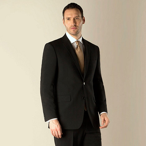 Karl Jackson - Black bengaline 2 button washable suit jacket
