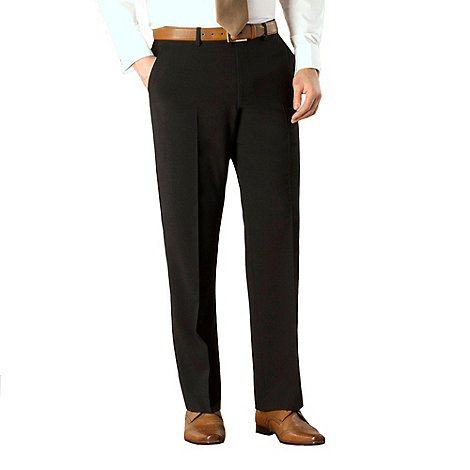 Karl Jackson - Black bengaline washable suit trouser