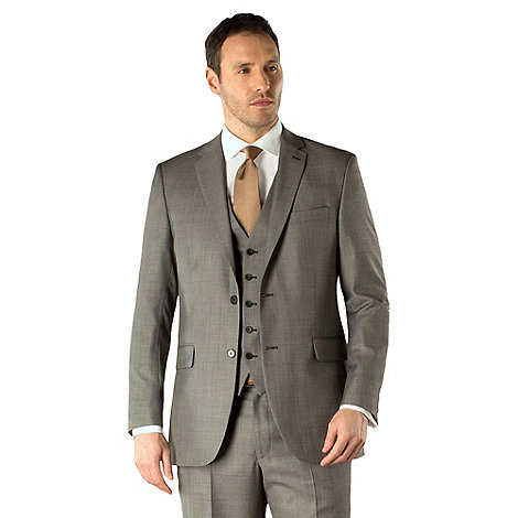 KARL JACKSON - Grey pick and pick 2 button suit jacket
