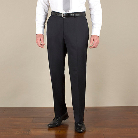 KARL JACKSON - Navy stripe suit trouser