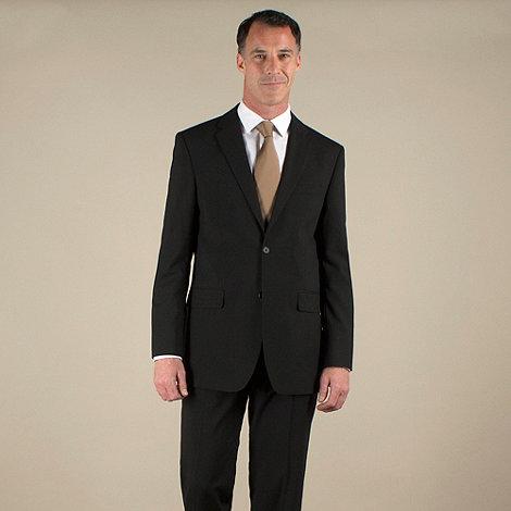 Karl Jackson - Black plain weave regular fit 2 button jacket
