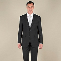 Karl Jackson - Charcoal bengaline 2 button washable suit jacket