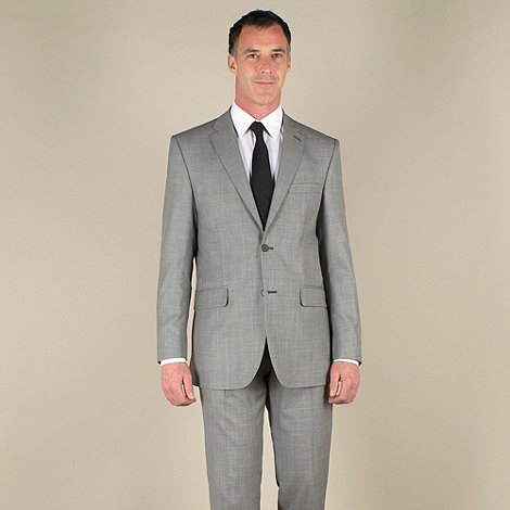 Karl Jackson - Grey pick and pick regular fit 2 button washable suit jacket