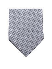 Grey Textured Plain Tie