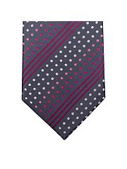Grey Rainbow Dots Tie