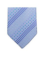 Blue Rainbow Dots Tie