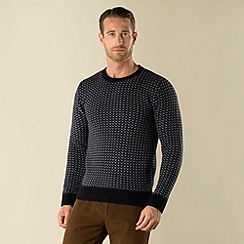 Racing Green - Staplefield Crew Neck Micro Jacquard Knit
