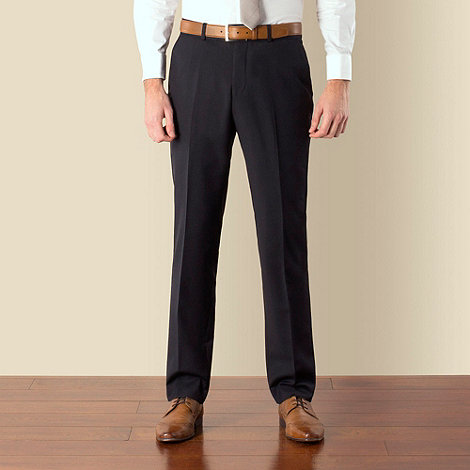 Ben Sherman - Navy twill kings slim fit suit trouser