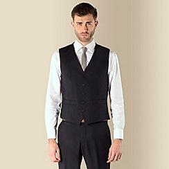 Ben Sherman - Navy twill 5 button kings slim fit suit waistcoat