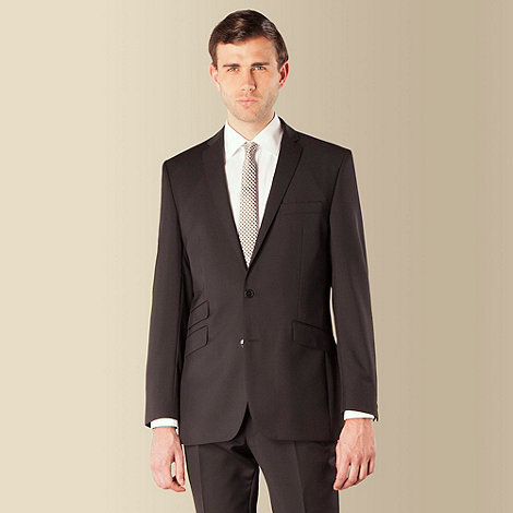 Ben Sherman - Black twill 2 button kings slim fit suit jacket