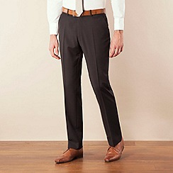 Ben Sherman - Black twill kings slim fit suit trouser