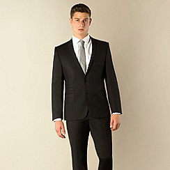 Ben Sherman - Black plain weave 2 button skinny camden fit suit