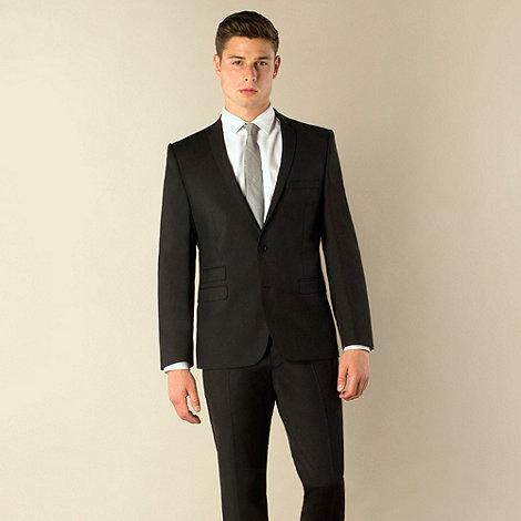 Ben Sherman - Black plain weave 2 button skinny camden fit suit jacket