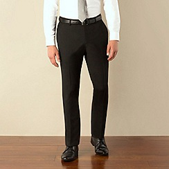 Ben Sherman - Black plain weave skinny fit suit trouser