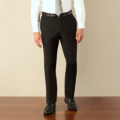 Ben Sherman - Black plain weave skinny fit suit trouser