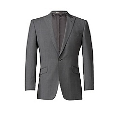 Ben Sherman - Grey twill 1 button kings slim fit suit jacket