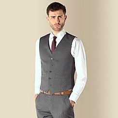 Ben Sherman - Grey twill 5 button kings slim fit suit waistcoat