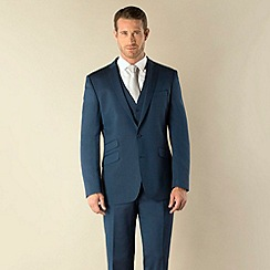 BEN SHERMAN - Blue tonic 2 button kings slim fit suit jacket