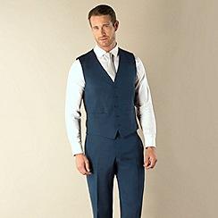 BEN SHERMAN - Blue tonic 5 button king slim fit suit waistcoat