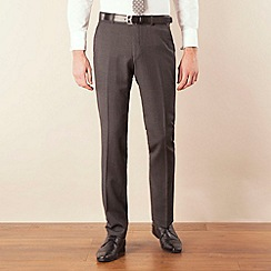 Ben Sherman - Grey flannel kings slim fit suit trouser