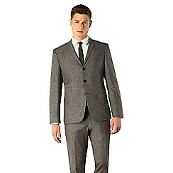 BEN SHERMAN - Dark grey donegal camden skinny fit suit jacket