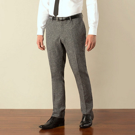 Ben Sherman - Dark grey donegal camden skinny fit suit trouser
