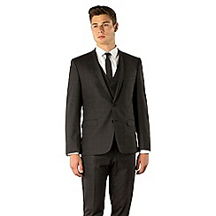 Ben Sherman - Charcoal check 2 button camden skinny fit 3 piece suit