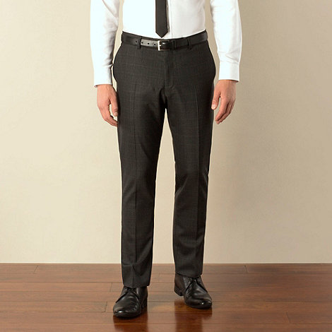 Ben Sherman - Charcoal check camden skinny fit suit trouser