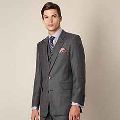 Hammond & Co. by Patrick Grant - Grey prince of wales check tailored fit 2 button suit