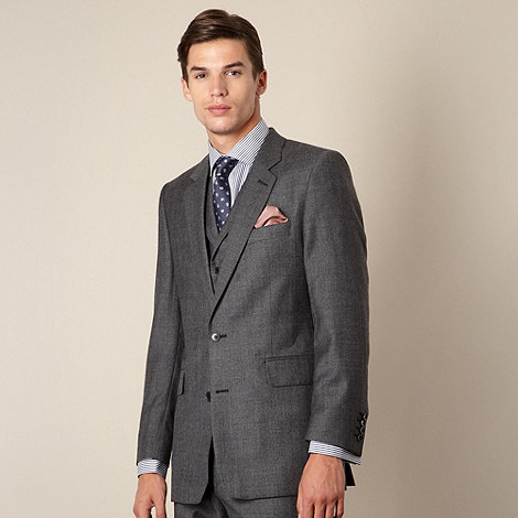 Hammond & Co. by Patrick Grant - Grey prince of wales check tailored fit 2 button jacket