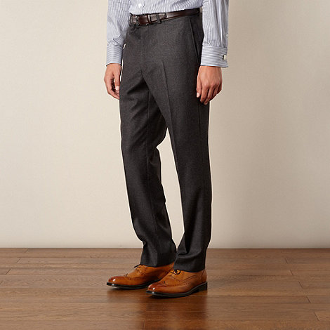 Hammond & Co. by Patrick Grant - Grey flannel tailored fit trouser