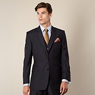 Hammond & Co. by Patrick Grant - Navy stripe tailored fit 2 button jacket