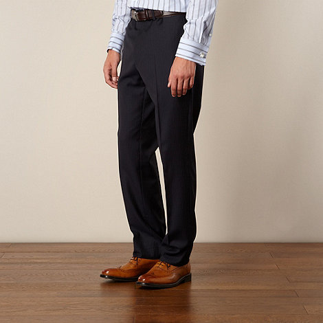 Hammond & Co. by Patrick Grant - Navy stripe tailored fit trouser
