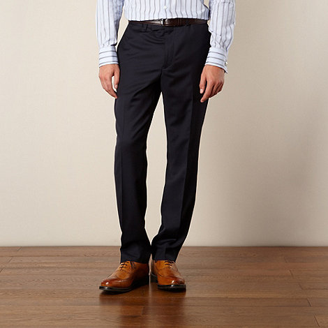 Hammond & Co. by Patrick Grant - Navy twill tailored fit trouser