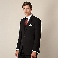 Hammond & Co. by Patrick Grant - Black plain tailored fit 2 button jacket