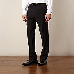 Hammond & Co. by Patrick Grant - Black plain tailored fit trouser
