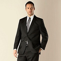 Racing Green - Black stripe regular fit 2 button suit