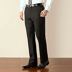 Racing Green - Black stripe regular fit suit trouser