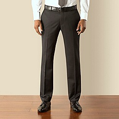 Racing Green - Grey narrow stripe tailored fit suit trouser