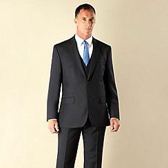 Racing Green - Navy semi-plain regular fit 2 button 3 piece suit