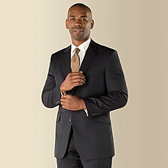 Centaur Big & Tall - Navy narrow stripe 2 button regular fit suit